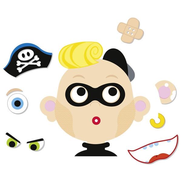 GOKI - Магнитная игра Funny Faces Boy