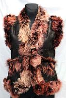 Молодежная женская натуральная жилетка Nebat