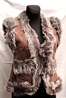 Молодежный женский натуральный жилет Nebat