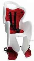 Детское заднее сиденье BELLELLI MR FOX Clamp Bianco до 22кг (велокресло  бело-красное) ТМ BELLELLI