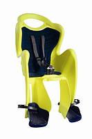 Детское заднее сиденье BELLELLI MR FOX Clamp до 22кг ( велокресло желто-черное) ТМ BELLELLI