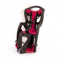 Детское заднее сиденье BELLELLI Pepe Clamp до 22кг (серое с красным) на багажник ТМ BELLELLI SAD-25-65