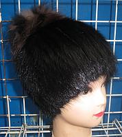 Зимняя женская меховая шапка из ондатры