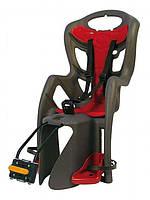 Детское заднее сиденье BELLELLI Pepe standart до 22кг (тёмно-серое с красной) ТМ BELLELLI SAD-25-62