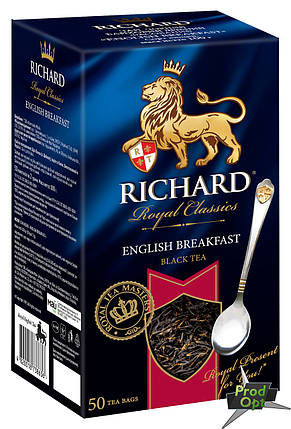 Чай Ричард English Breakfast  50 пакетів, фото 2