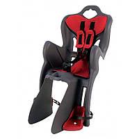 Детское заднее сиденье BELLELLI В1 Clamp до 22кг (велокресло серый с красным) ТМ BELLELLI SAD-25-48