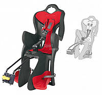 Детское заднее сиденье BELLELLI В1 Standart  до 22кг (велокресло серый с красным) ТМ BELLELLI SAD-25-21