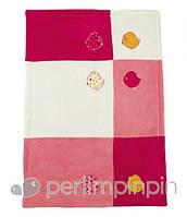 Детское плюшевое одеяло для девочки Perlim Pinpin (осень-зима) Птички BL115P