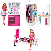 Набор Кукла Барби Роскошный интерьер: кухня, спальня, ванная комната (Barbie CFB63)