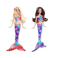 Кукла Барби русалка Сверкающие огоньки (Barbie V7046)