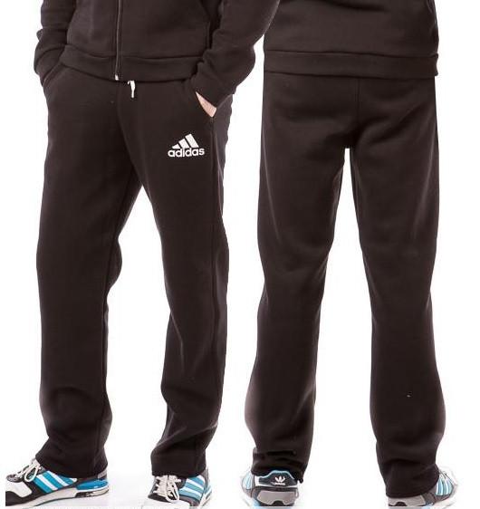 710b1cd6 ТЕПЛЫЕ зимние спортивные штаны мужские на флисе в стиле Адидас (Adidas)  черные прямые Украина , цена 390 грн., купить в Вышгороде — Prom.ua  (ID#256618641)