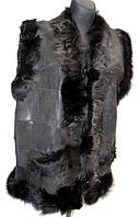 Безрукавка натуральная женская из кожи и овчины