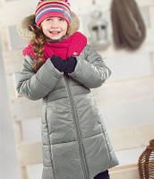 Зимнее термопальто для девочки  4-6 лет р. 104-116 ТМ PerlimPinpin Серый VH241C