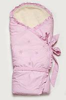 """Зимний конверт-одеяло для новорожденных на меху """"Сказка -2"""" Модный карапуз Розовый 07-00033-21"""