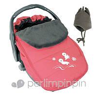 Зимний конверт-чехол для новорожденных в автокресло, коляску ТМ PERLIM PINPIN  (Канада) Розовый