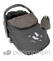 Зимний конверт-чехол для новорожденных в автокресло, коляску ТМ PERLIM PINPIN  (Канада) Серый