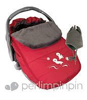 Зимний конверт-чехол для новорожденных в автокресло, коляску ТМ PERLIM PINPIN  (Канада) Красный