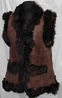 """Женская беррукавка из овечьей шерсти и кожи """"Nebat"""""""