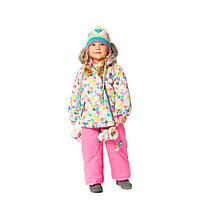 Зимний костюм для девочек 6-30 месяцев (куртка, полукомбинезон, шапочка) ТМ Deux par Deux A 500-631