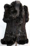 Натуральная теплая женская жилетка Nebat