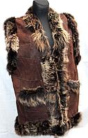 Натуральная женская жилетка Nebat большие размеры