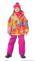 Зимний костюм для девочки 2 - 6 лет (куртка, полукомбинезон, манишка) ТМ Deux par Deux I 808-534