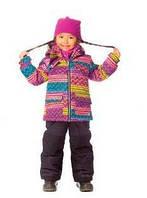 Зимний костюм для девочки 2-4 лет (куртка, полукомбинезон, манишка) ТМ Deux par Deux H 807 - 999