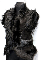 Тепла жилетка жіноча з шкіри і овечої вовни