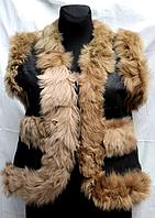 Молодіжна тепла жилетка жіноча натуральна