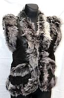 Жилет жіночий натуральний з шкіри і овечої вовни