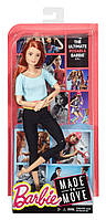 Кукла Барби Фитнес рыжие волосы Barbie Made to Move двигайся как я