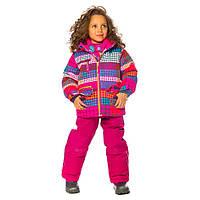 Зимний костюм для девочки 2-7 лет (куртка, полукомбинезон, манишка) ТМ Deux par Deux D 803-533