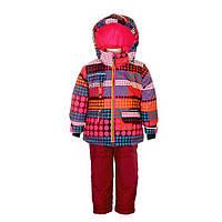 Зимний костюм для девочки 6 лет р. 116 (куртка, полукомбинезон, манишка) ТМ Deux par Deux D 803-533