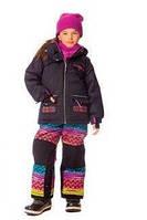 Зимний костюм для девочки 4-8 лет (куртка, полукомбинезон, манишка) ТМ Deux par Deux H 807 - 00