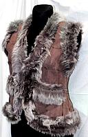 Жіноча натуральна жилетка Nebat (шкіра та шерсть)