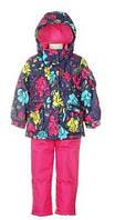 Зимний костюм для девочки 6-7 лет (куртка, полукомбинезон, манишка) ТМ Deux par Deux E 804 - 647