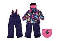 Зимний костюм для девочки 6 лет (куртка, полукомбинезон, манишка) ТМ Deux par Deux E 804 - 586