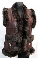 """Молодіжна коричнева жіноча натуральна жилетка фірми """"Nebat"""""""