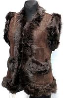 Натуральна молодіжна жіноча жилетка Nebat на овчині