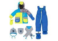 Зимний костюм для мальчика 1-3 лет (полукомбинезон, шарфик, манишка, шапка) ТМ Deux par Deux Q 518-487