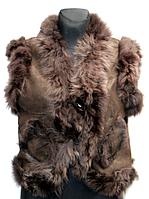 Жіноча натуральна жилетка Nebat - коричневого кольору