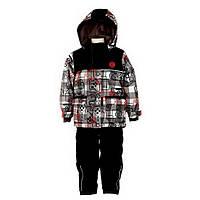 Зимний костюм для мальчика 2-6 лет  (куртка, полукомбинезон, манишка) ТМ Deux par Deux N 815-999