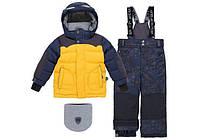 Зимний костюм для мальчика 2-6 лет, р. 92-122 (куртка, полукомбинезон, манишка) ТМ Deux par Deux N 816-243