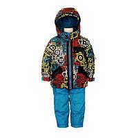 Зимний костюм для мальчика 2-6 лет  (куртка, полукомбинезон, манишка) ТМ Deux par Deux L 813-447