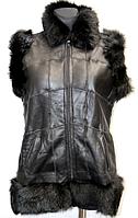 Модная натуральная женская жилетка Nebat внутри - овечья шерсть