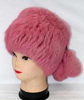 Натуральная женская меховая шапка-кубанка