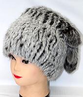 Модная женская зимняя шапка = мех кролика