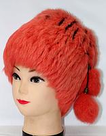 Зимняя женская шапка-кубанка мех кролика