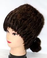 Женская меховая шапка-кубанка