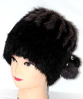 Женская зимняя шапка-кубанка